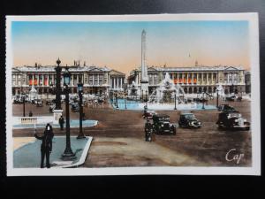 France PARIS: PLACE DE LA CONCORDE c1940's RP by C.A.P of Paris 170515