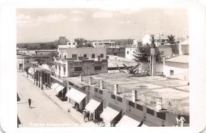 D70/ Ciudad Valles  S.L. Mexico Foreign RPPC Postcard c1950s Casas Comerciales