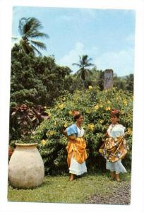 Martinique; women, costume creole, 40-60s