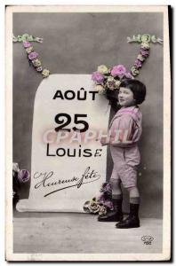 Old Postcard Fancy Surname Louis Louise