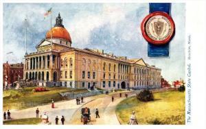 Massachusetts State Capitol  Boston , Tuck's no. 2452