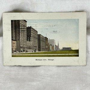 Postcard Michigan Ave., Chicago illinois PM 1909 PC1
