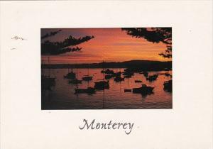 California Monterrey Harbor At Sunrise
