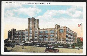 New Atlantic City High School Atlantic City New Jersey Unused c1920s
