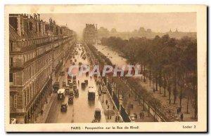 Old Postcard Paris Perspective on the Rue de Rivoli