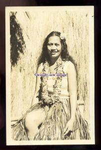 gla0118 - Glamour - Beautiful Young Hawaiian Woman in Hula Costume - postcard