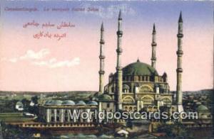 Lu Mosquee Sultan Selini Constantinople, Turkey Postcard Post Card, Kart Post...