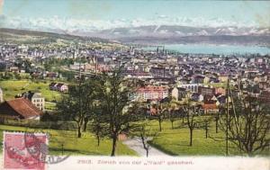 Switzerland Zurich von der Waide gesehen1908