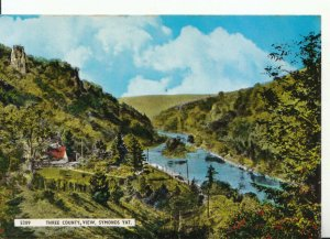 Herefordshire Postcard - Three County View - Symonds Yat - Ref 17216A
