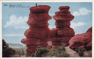 Colorado Colorado Springs Sianese Twins Garden Of The Gods
