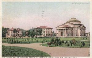 NEW YORK University, 1918; Library, Hall of Languages, Physics & Chemistry Labor