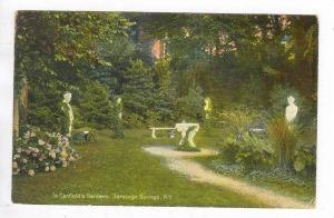 In Canfield´s Gardens, Saratoga Springs, New York, PU