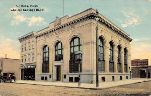 Chelsea Massachusetts Savings Bank Exterior Antique Postcard K18817