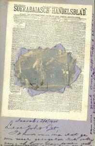 indonesia, JAVA SOERABAIA, Newspaper Postcard Soerabaiasch-Handelsblad 1905 RPPC