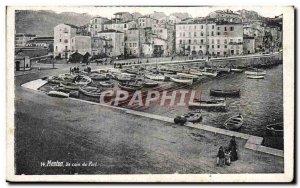 Old Postcard Menton A corner Yacht Harbor