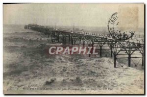 Old Postcard Trouville Sur Mer La Jette Promenade For Big Time