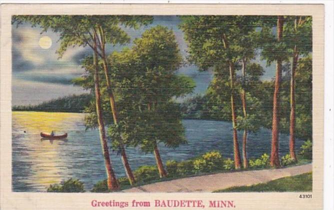 Minnesota Greetings From Baudette 1939