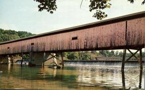 Harpersfield Covered Bridge over Grand River near Geneva, Ohio