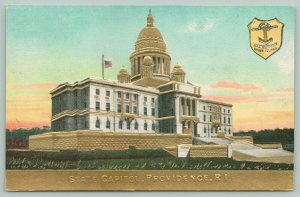 Providence Rhode Island~State Capitol~State Seal~c1910 Postcard