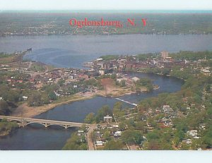 Pre-1980 AERIAL VIEW Ogdensburg New York NY AD0072
