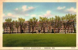 Wisconsin Oshkosh Mercy Hospital Curteich