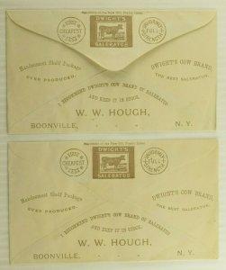 1880's W. W. Hough Groceries & Crockery Boonville, NY Dwight's Saleratus #M