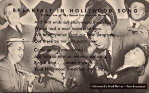 California Hollywood Tom Breneman Breakfast In Hollywood Song