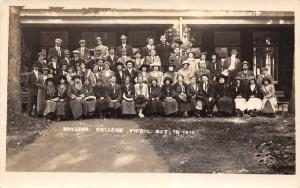 Dubuque Iowa~Bayless Business College Picnic~Oct 18 1913 Group~Real Photo~RPPC
