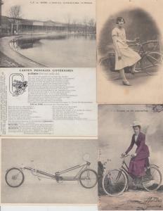 BICYLETTE CYCLING BICYCLE 86 Cartes Postales 1900-1940.