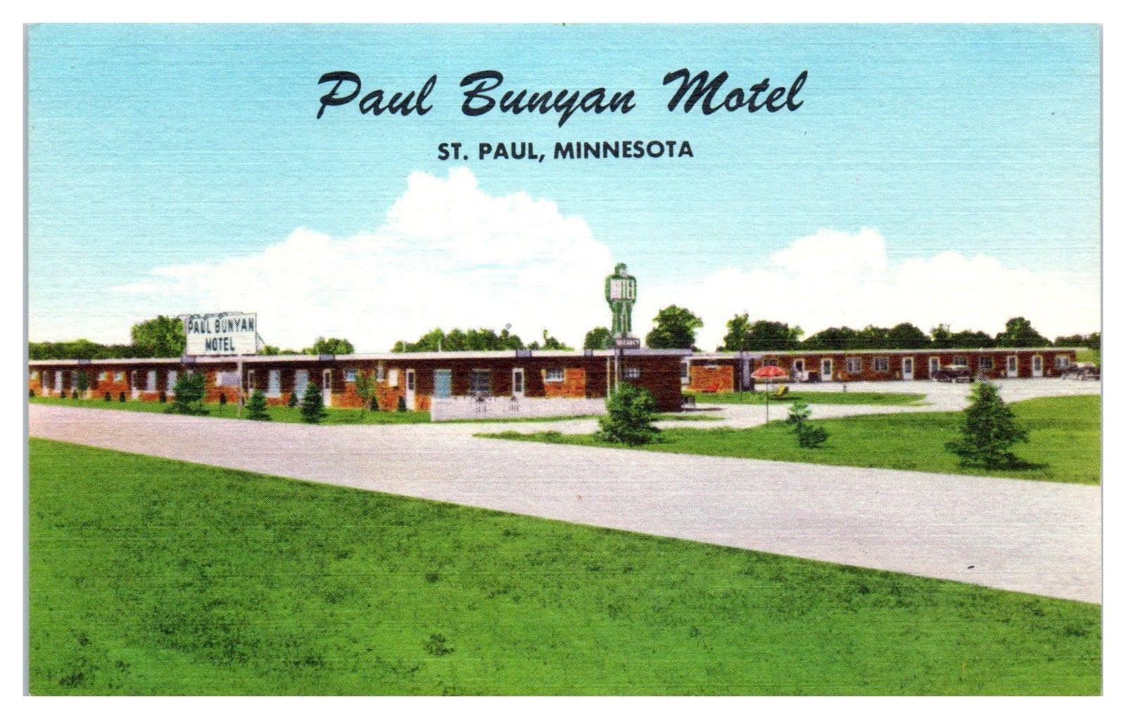 Mid-1900s Paul Bunyan Motel, St  Paul, MN Postcard / HipPostcard