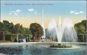 Hannover Germany -  Herrenhauser Garden with fountains 1920s