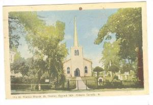 Exterior, Old St. Thomas Church, St. Thomas, Ontario, Canada,  PU-1950