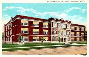 Kansas Lawrence Liberty Memorial High School Curteich