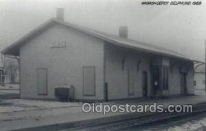 Wabash Depot, IN, Indiana, USA Kodak Real Photo Paper Train Railroad Station ...