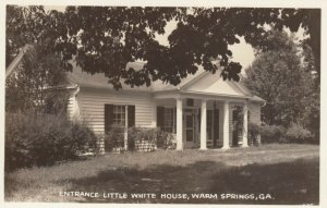 RP: WARM SPRINGS, Georgia, 1930-50s; Entrance Little White House