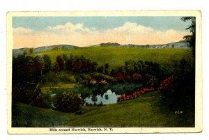 NY - Norwich. Surrounding Hills
