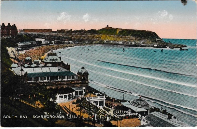 Post Card Yorkshire Scarborough South Bay 485
