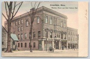 Greenfield MA~Masonic Block & Odd Fellows Hall~Gaines & Freshour Photo Shop~1907