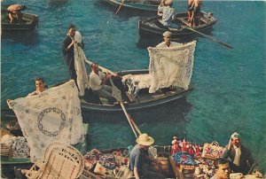 Portugal Postcard Madeira Funchal Bay market hand made folklore ware