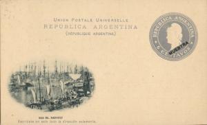 argentina, BUENOS AIRES, Boca del Riachuelo (1899) Postal Stationery