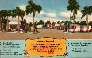 Florida Fort Myers River Court 1956