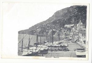 Italy Amalfi Marina Boats Brangi Vintage UDB Postcard ca 1905