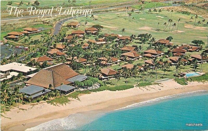 1950s Aerial View Royal Lahaina Hotel Kaanapali Beach Hawaii Tongg Postcard 895