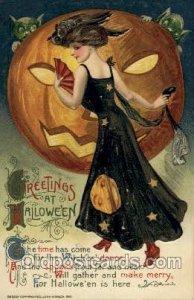 Artist Samuel Schmucker Halloween Unused very light paint chip left top corne...