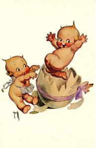 The Kewpies.  Artist: Rose O'Neill   (Reproduction)