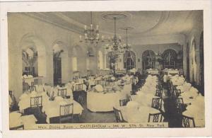 New York City Main Dining Room Castleholm Restaurant