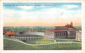 Stadium & Gymnasium, Syracuse University Syracuse, New York, NY, USA 1934