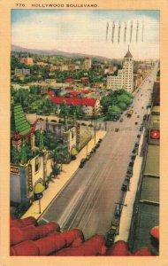 Postcard Hollywood Boulevard California