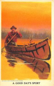 From A Nature Studies Poster A Good Day's Sport Canoe Hunter Postcard