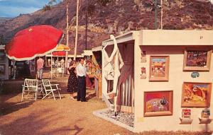 Laguna Beach California~Festival of Arts~Booth Exhibits~Paintings~1962 Postcard
